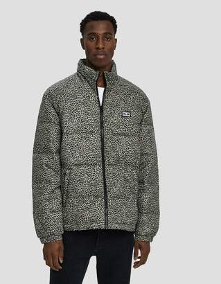 Obey Bouncer Puffer Jacket in Khaki Leopard