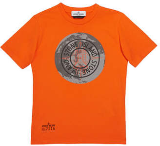 Stone Island Boys' Moonlanding Screen-Print Logo T-Shirt, Size 14