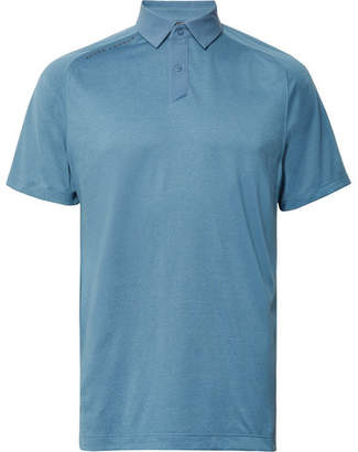 Under Armour Striped Threadborne HeatGear Golf Polo Shirt - Blue