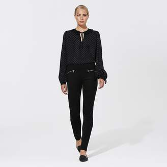 Karl Lagerfeld Paris Faux Suede Panel Legging