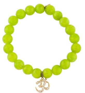 Sydney Evan Diamond & Bright Yellow Bead Charm Bracelet