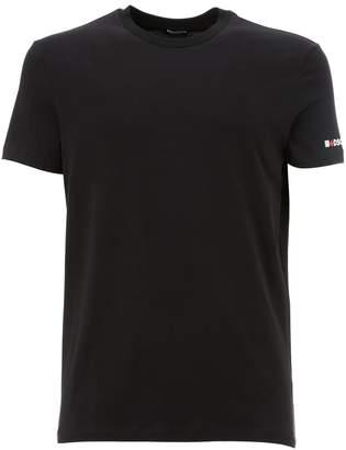 DSQUARED2 Underwear Printed Crewneck Cotton Jersey T-shirt