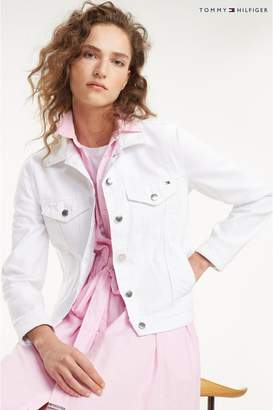 4dad5e9a06be Tommy Hilfiger Womens White Denim Jacket - White