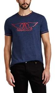 "John Varvatos Men's ""Aerosmith"" Slub Cotton-Blend T-Shirt - Blue"