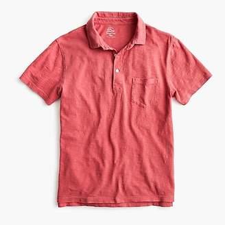 J.Crew Garment-dyed slub cotton polo