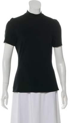 Charles Chang-Lima Mock Neck Short Sleeve Top Black Mock Neck Short Sleeve Top