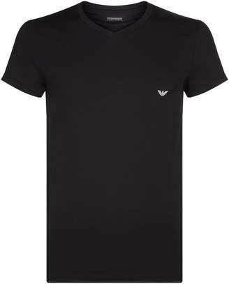 Emporio Armani Stretch Cotton Eagle T-Shirt