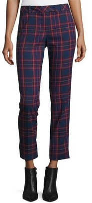 Trina Turk Cropped Plaid Trousers, Multicolor $268 thestylecure.com