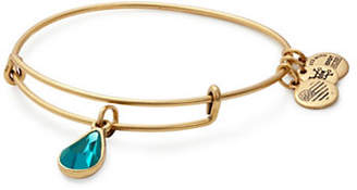 Alex and Ani December Birth Month Charm Bangle With Swarovski Blue Zircon Crystal