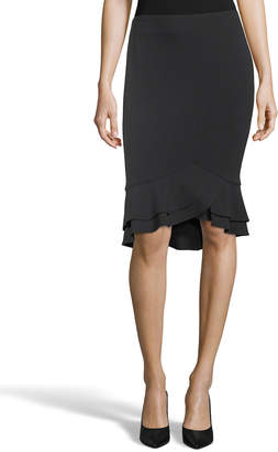 e69d350b44 5Twelve Double Ruffle Hem Pencil Skirt
