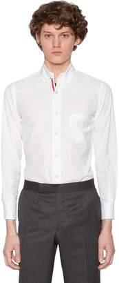 Thom Browne Cotton Poplin Shirt W/ Printed Stripes