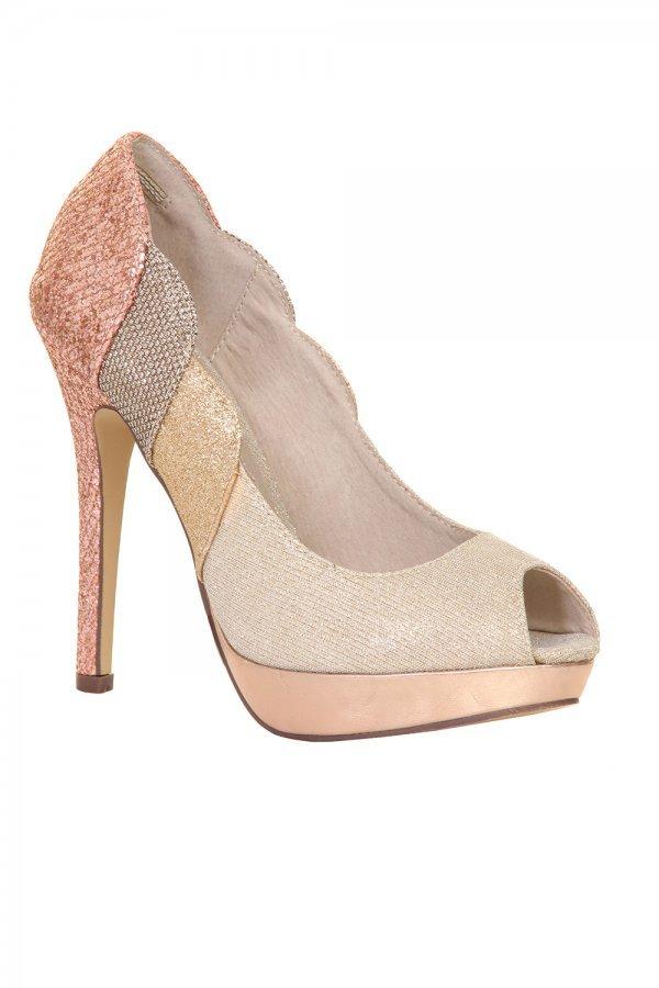 Nude Glitter Heels - ShopStyle Australia