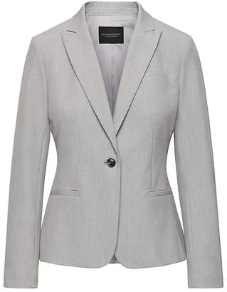 Banana Republic Petite Classic-Fit Machine-Washable Birdseye Blazer