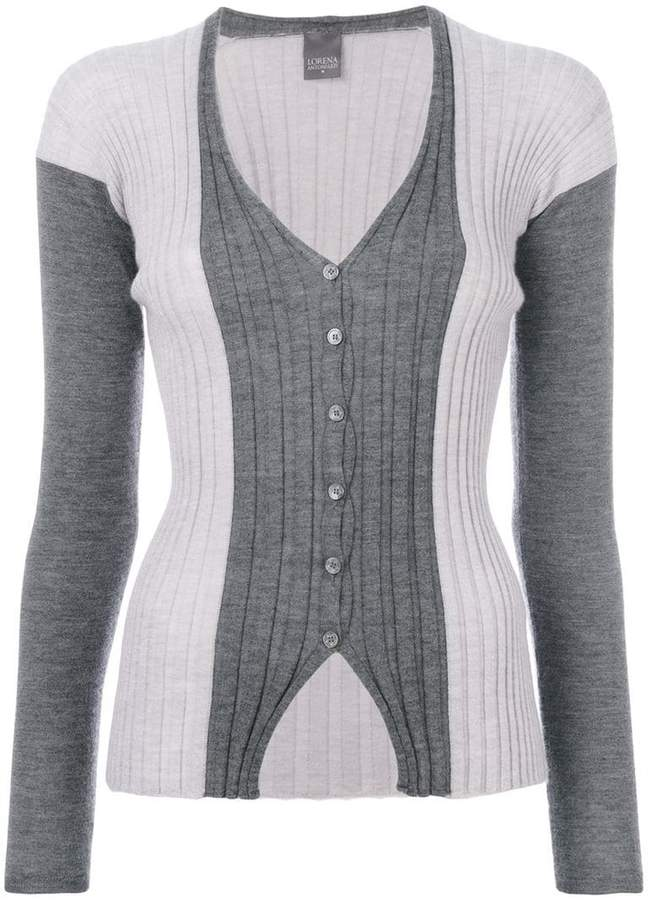 Lorena Antoniazzi ribbed V-neck cardigan