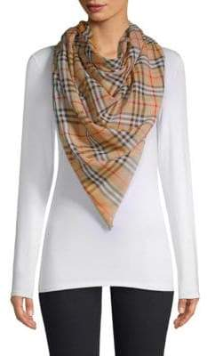 Burberry Colorblock Vintage Check Square Scarf