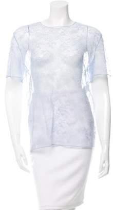 Nina Ricci Short Sleeve Lace Top