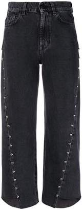 7 For All Mankind cropped asymmetric jeans