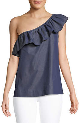 Tommy Hilfiger One Shoulder Ruffle Top