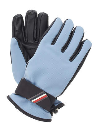Moncler Genius Coated Twill And Leather Gloves