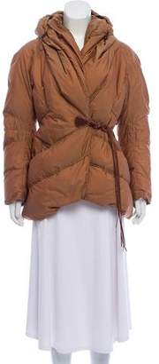 Ermanno Scervino Leather-Accented Down Coat