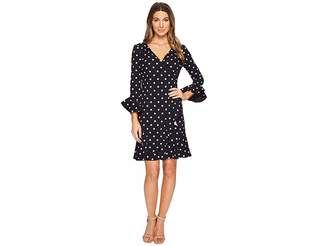 Lauren Ralph Lauren Varsha Driver Dot Crepe Dress Women's Dress