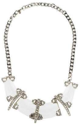 Alexis Bittar Lucite & Crystal Deco Collar Necklace