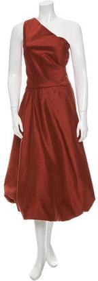 Vera Wang Silk One-Shoulder Dress $130 thestylecure.com