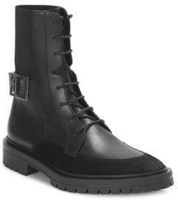 Givenchy Aviator Leather& Suede Ankle Boots