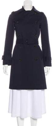 Barneys New York Barney's New York Double-Breasted Knee-Length Coat