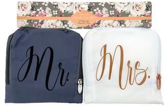 Laundry by Shelli Segal MIAMICA Grey\u002FWhite Bridal Laundry Bag - Set of 2
