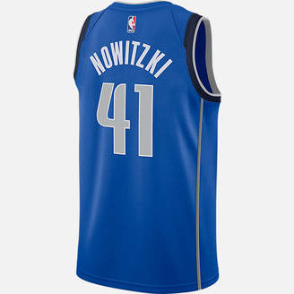 Nike Men's Dallas Mavericks NBA Dirk Nowitzki Icon Edition Connected Jersey