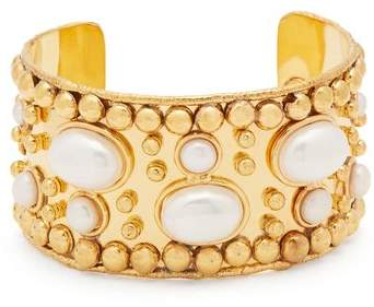 SYLVIA TOLEDANO Pearl and gold-plated cuff