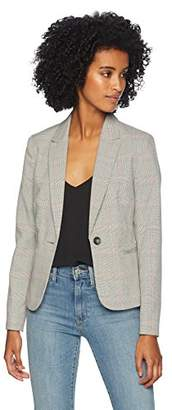 Tahari by Arthur S. Levine Women's Plaid one Button Long Sleeve Jacket