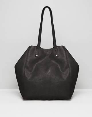 Asos Soft Shopper Bag With Removable Clutch