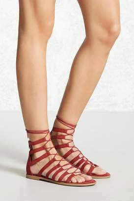 Forever 21 Faux Suede Gladiator Sandals