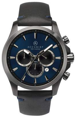 Accurist Men's Black Chronograph Watch 7180