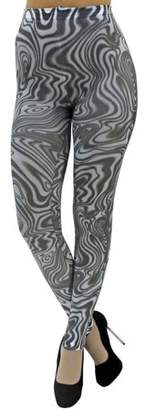 Foot Traffic Luxury Divas Wild Print Swirl Legging Footless Tights