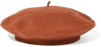 CLYDE Rohmer Wool-felt Beret - Brick