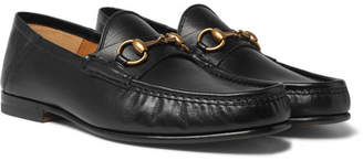 daab135e964e Gucci Easy Roos Horsebit Collapsible-heel Leather Loafers - Black