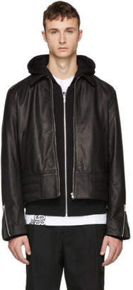 McQ Black Leather Moto Jacket
