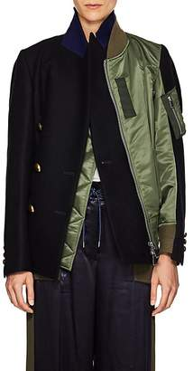 Sacai Women's Tech-Satin Layered Bomber Jacket