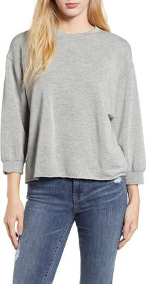 Velvet by Graham & Spencer Raw Hem Sweatshirt