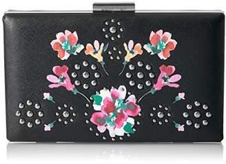 Calvin Klein Floral Printed Saffiano Box Clutch