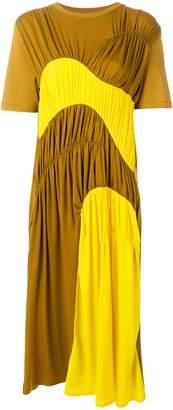 Carven gathered colourblock midi dress
