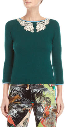 Blugirl Lace Neck Sweater