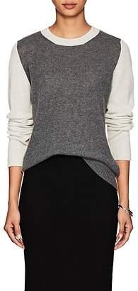 Barneys New York Women's Colorblocked Cashmere Sweater - Gray