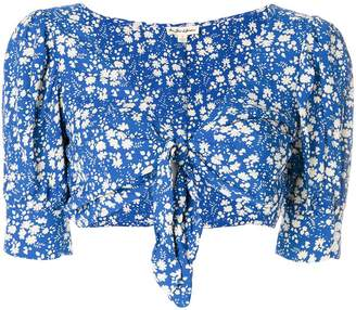 For Love & Lemons floral print cropped top