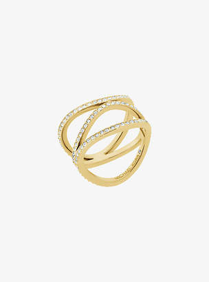 Michael Kors Pave Gold-Tone Ring