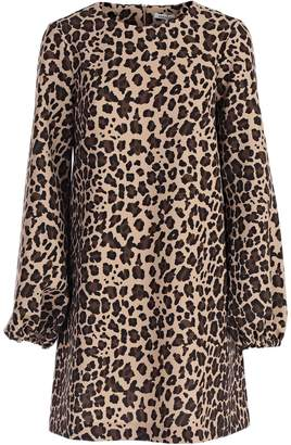 P.A.R.O.S.H. Flared Animal Print Dress