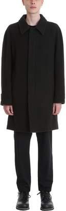Maison Margiela Long Coat In Black Wool